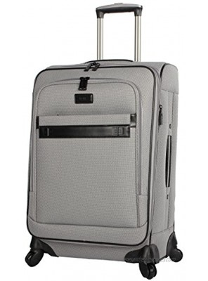 Nicole Miller New York Coralie Collection 20 Carry On Expandable Upright Luggage Spinner 20 in Coralie Grey