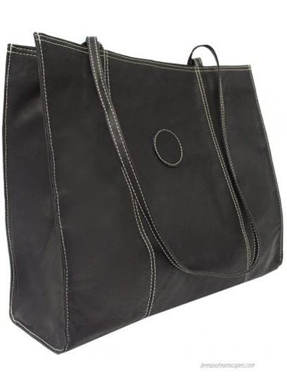 Piel Leather Carry-All Market Bag Black One Size