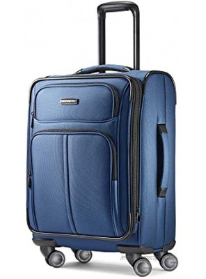 Samsonite Leverage LTE Softside Expandable Luggage with Spinner Wheels Poseidon Blue Carry-On 20-Inch