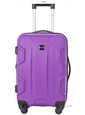 Travelers Club Camden Hardside Spinner Luggage Purple Carry-On 20-Inch