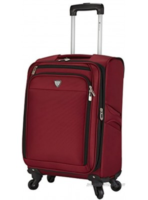 Travelers Club Monterey Softside Spinner Luggage Red Carry-On 18-Inch