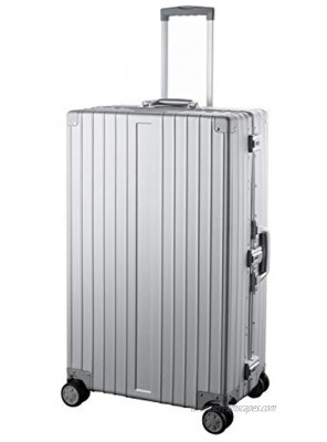 TRAVELKING All Aluminum Luggage Hard Shell Luggage Case Carry On Spinner Suitcase Silver 24