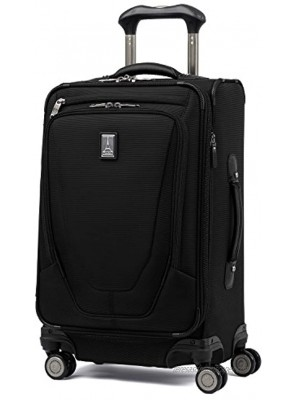 Travelpro Crew 11-Softside Expandable Luggage with Spinner Wheels Black Carry-On 21-Inch