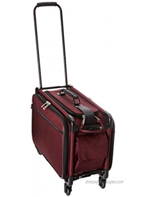 TUTTO 20 Inch Retulation Carry-On Burgundy One Size