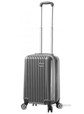Viaggi Mia Italy Lucca Hardside Spinner Carry-on Black One Size