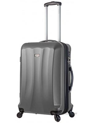 Viaggi V1010l-28in-slv Italy Siena Hardside 28 Inch Spinner Silver One Size