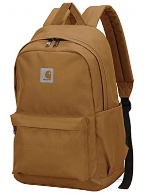 Carhartt Unisex Adult Essentials Backpack with 15-Inch Laptop Sleeve for Travel Work and School Brown One Size