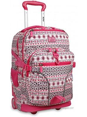 J World New York Lunar Laptop Rolling Backpack Skandi Pink 19.5