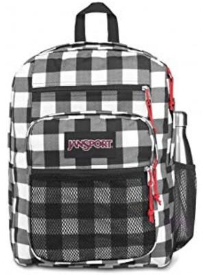 Jansport Big Campus Backpack Lightweight 15-inch Laptop Bag Buffalo Check Mix