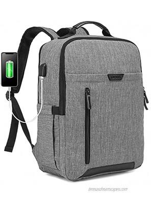 LOVEVOOK Laptop Backpack for Men & Women Anti-Theft Travel Bag Business Computer Backpack College School Bookbag 15.6 Inch,Grey