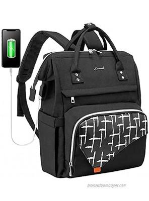 LOVEVOOK Laptop Backpack for Women,17 Inch Work School Travel Bag Computer Bags Teacher Nurse Backpack Purse Bookbag Upgraded