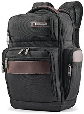 Samsonite Kombi 4 Square Backpack with Smart Sleeve Black Brown 15.75 x 9 x 5.5-Inch
