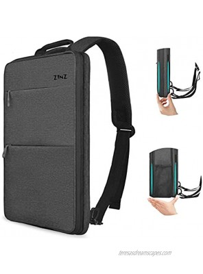 Slim & Expandable Laptop Backpack 15 15.6 16 Inch Sleeve with USB Port Spill-Resistant Notebooks Bag Case for Most 14-16 Inch MacBooks Surface-Books Dell HP Lenovo Asus Computers Dark Gray