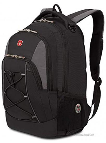 SwissGear Bungee Backpack Black Grey One Size