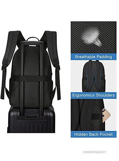 Women Laptop Backpack BAGSMART Backpacks Fits up to 15.6 inches Laptop Anti-theft Back Pack for Work Travel School Business College Black