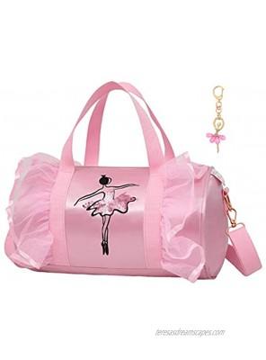 Debbieicy Cute Ballet Dance Backpack Tutu Dress Dance Bag with Key Chain Girls