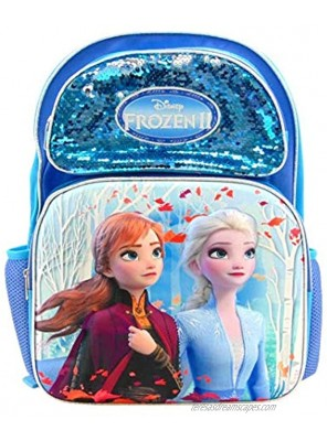 Disney Frozen 2 Elsa Anna Full Size 16 Inch 3D Backpack with Sequins