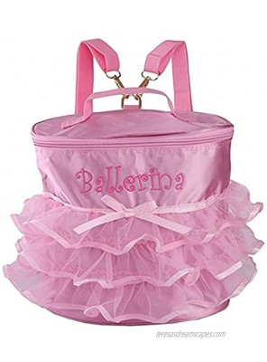 KingBig Dance Backpack Dance Bag Super Cost-effective Little Girl's Ballet Duffel Bags Backpack with Pink Lace for Girls&Dancers