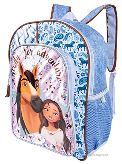 Spirit Backpack Combo Set Spirit Riding Free 3 Piece Backpack Set Backpack Waterbottle and Carabina Pink