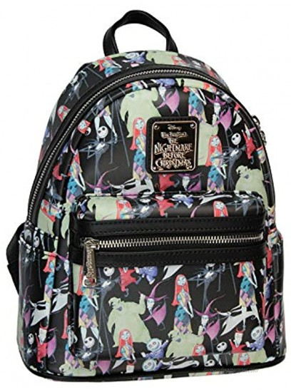The Nightmare Before Christmas Allover Watercolor Character Print Mini Backpack