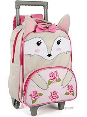 Toddler Rolling Backpack 16 inch Kids Wheeled Backpack Boys Girls Travel School Children Luggage Toddler Trip