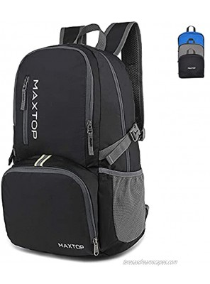 MAXTOP 30 40L Lightweight Packable Backpack for Hiking Traveling Camping Water Resistant Foldable Outdoor Travel Daypack