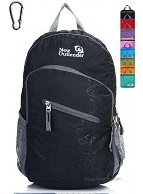 Outlander Packable Handy Lightweight Travel Hiking Backpack Daypack-Black-L