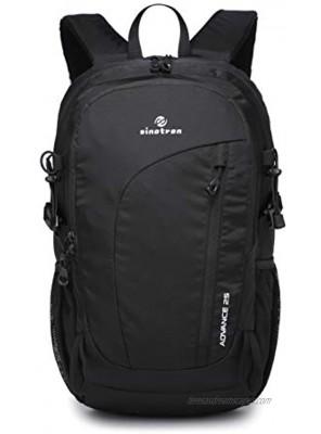 Sinotron 25L Travel Hiking Backpack Daypack for Men Women Black