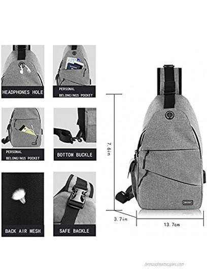 Sling Bags Cross body Bags For Women Men Sling Backpack Shoulder Bags Chest Bag Travel Hiking Day pack