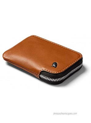 Bellroy Card Pocket Small Leather Zipper Card Holder Wallet Holds 4-15 Cards Coin Pouch Folded Note Storage