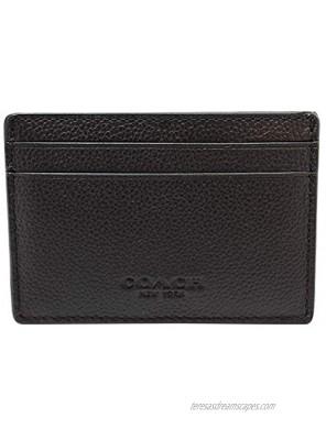 Coach Men's Money Clip Card Case Calf Leather Wallet F75459