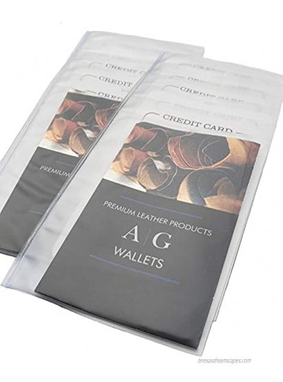 Set of 2 Clear Premium Quality Checkbook Wallet Insert from AG Wallets