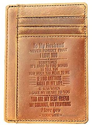 Ablibi Slim Minimalist RFID Blocking Front Pocket Wallets to Husband