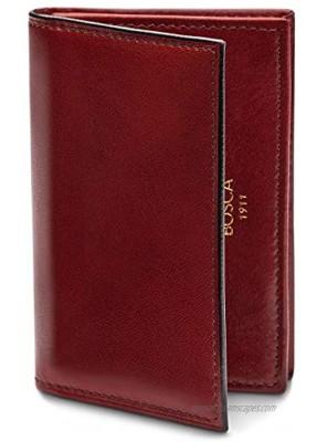 Bosca Men's Full Gusset 2 Pocket Card Case with I.D.