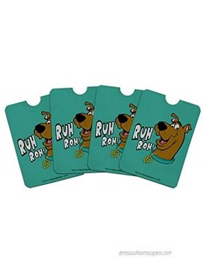 Scooby-Doo Ruh Roh Credit Card RFID Blocker Holder Protector Wallet Purse Sleeves Set of 4