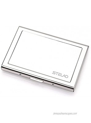Slim Stainless Steel Credit Card Holder for Men and Women Slim Design with RFID Blocking – Unique Credit Card Holder – Business Card Holder with Small Pull – Ideal for Elegant and Stylish Men