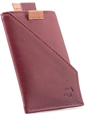 The Frenchie Co Calfskin Slim Front Pocket Speed Card Holder   Burgundy