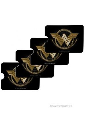 Wonder Woman Movie Golden Lasso Logo Credit Card RFID Blocker Holder Protector Wallet Purse Sleeves Set of 4