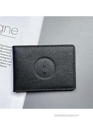 Black Genuine Leather Credit Card Holder For Men,6 Slots Slim Credit Card Storage Case Holders