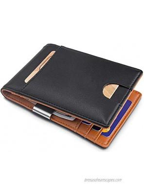 Card Holder Slim Front Pocket Wallet ID Window Card Case Wallet with RFID Blocking Card Holder Minimalist