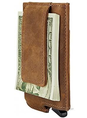 Dinghao RFID Blocking Slim Money Clip Aluminum Wallet Automatic Pop-up Card Case