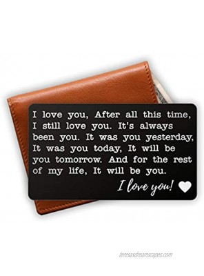 Love Note Wallet Insert Personalized Engraved Wallet Card Husband Gift Gifts for anniversary Unique Anniversary Wallet Insert Gift