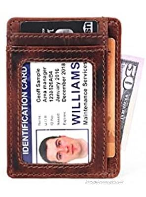 Minimalist Genuine Leather Card Case Holder Slim Front Pocket Wallet Handmade GIFT Ready Dark Brown