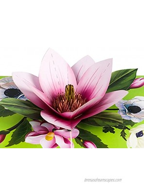 TRUANCE Pop Up Greeting Card Magnolia Flower- 3D Cards For Birthday Anniversary Mothers Day Thank You Cards Card for Mom Congratulation Card Love Card All Occasion