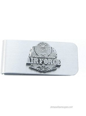 Armed Forces Sculpted Pewter Moneyclip Air Force