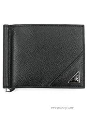 Prada Vitello Micro Grain Leather Money Clip Nero Black 2MN077