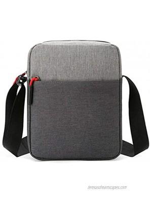 Avalita Men Waterproof Shoulder Bag Pockets Anti Theft Large Capacity Outdoor Messenger Bag Gray