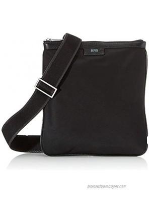 BOSS Men's Meridian_single zip shoulder bag black