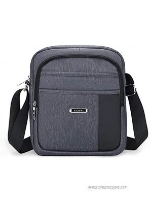 UBORSE Men's Shoulder Bag Small Canvas Messenger Bag Waterproof Crossbody Satchel Bag for Business Commuter Work School Travel