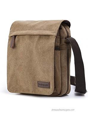 "Verlenpaple Tablet Messenger bags for 10.2"" iPad 2019-2020 9.7"" iPad 2017-2018  iPad Air 2019-2020 7.9"" iPad Mini Surface Go Samsung Tablet Canvas Small Messenger bags for men women"